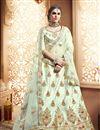 image of Art Silk Light Green Wedding Wear 3 Piece Lehenga Choli With Embroidery Work
