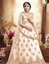 image of Chikoo Designer Reception Lehenga With Embroidery Work On Art Silk Fabric