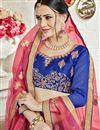 photo of Banglori Silk Fabric Blue Occasion Wear Lehenga Choli With Embroidery Work
