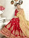 photo of Embroidered Red Banglori Silk Fabric Function Wear Lehenga Choli With Party Wear Blouse