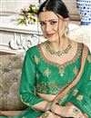 photo of Banglori Silk Fabric Green Sangeet Wear 3 Piece Embroidered Lehenga