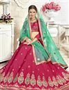 photo of Embroidered Dark Pink Banglori Silk Fabric Function Wear Lehenga Choli With Party Wear Blouse
