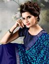 photo of Georgette Saree In Blue With Embroidery Work
