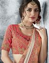 photo of Fancy Fabric Beige Color Designer Saree With Embroidery Work