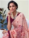 photo of Peach Casual Style Printed Saree In Georgette Fabric