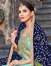 photo of Festive Wear Cyan Designer Suit In Art Silk With Fancy Dupatta