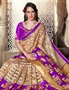 photo of Art Silk Party Wear Saree In Purple With Jacquard Work And Designer Blouse