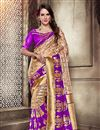 image of Art Silk Party Wear Saree In Purple With Jacquard Work And Designer Blouse