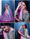 photo of Lavender Color Art Silk Festive Wear Printed Saree