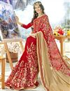 photo of Function Wear Georgette Embroidered Red Color Fancy Saree