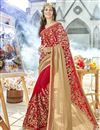 image of Function Wear Georgette Embroidered Red Color Fancy Saree
