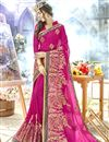 image of Rani Color Function Wear Embroidered Georgette Saree
