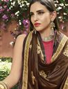 photo of Pink Party Wear Embroidered Art Silk Saree With Lace Border