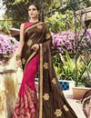 image of Pink Party Wear Embroidered Art Silk Saree With Lace Border