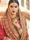 photo of Orange Fancy Wedding Wear Art Silk And Net Fabric Saree With Embroidery