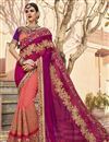 image of Function Wear Art Silk Embroidered Peach Fancy Saree