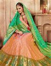 photo of Embroidered Peach Bridal Lehenga In Banarasi Silk Fabric with Designer Choli