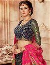 photo of Embroidered Navy Blue Bridal Lehenga In Banarasi Silk Fabric with Designer Choli