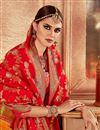 photo of Embroidered Wedding Wear Lehenga Choli In Orange Banarasi Silk Fabric