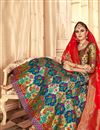 photo of Embroidery Work On Banarasi Silk Designer Lehenga In Blue With Blouse