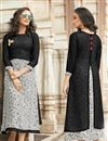 image of Black Rayon Fabric Designer Kurti With Print Designs