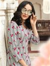 photo of Off White Designer Party Wear Printed Kurti In Rayon Fabric