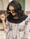 photo of Occasion Wear Fancy Printed Kurti In Chikoo Rayon Fabric