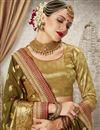 photo of Jacquard Work Wedding Wear Art Silk Fabric Traditional Saree