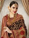 photo of Art Silk Fabric Jacquard Work Designer Wedding Wear Saree In Brown