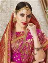 photo of Art Silk Fabric Jacquard Work Magenta Embellished Designer Saree