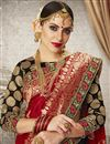 photo of Red Color Art Silk Fabric Jacquard Work Party Wear Designer Saree