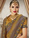 photo of Art Silk Party Wear Saree In Coffee With Jacquard Work