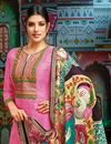 photo of Pink Occasion Wear Printed Palazzo Suit With Chanderi Fabric With Fancy Dupatta