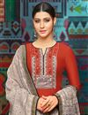 photo of Red Printed Festive Wear Palazzo Suit In Chanderi Fabric With Fancy Dupatta