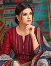 photo of Red Occasion Wear Printed Palazzo Suit With Chanderi Fabric With Fancy Dupatta