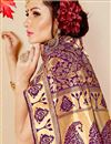 photo of Party Style Fancy Art Silk Saree With Jacquard Design In Purple Color
