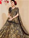 photo of Black Traditional Art Silk Saree With Jacquard Design