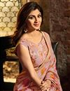 photo of Shilpa Shetty Art Silk Pink Occasion Wear Saree With Embroidery Work