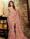 image of Shilpa Shetty Art Silk Pink Occasion Wear Saree With Embroidery Work