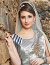 photo of Embroidered Satin Party Wear Readymade Anarkali Salwar Kameez