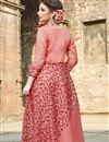 photo of Festive Wear Readymade Anarkali Salwar Suit In Peach Fancy Fabric