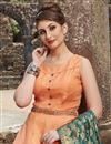 photo of Chanderi Readymade Anarkali Salwar Kameez With Embroidery Work