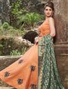 image of Chanderi Readymade Anarkali Salwar Kameez With Embroidery Work