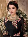 photo of Georgette Black Designer Sangeet Wear Embroidered Anarkali Suit