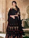 image of Georgette Black Designer Sangeet Wear Embroidered Anarkali Suit