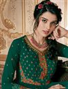 photo of Function Wear Fancy Embroidered Anarkali Suit In Georgette Teal Color