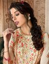 photo of Designer Function Wear Embroidered Anarkali Suit In Off White Color Georgette Fabric