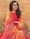 photo of Orange Office Wear Georgette Saree With Print Work