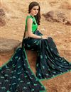 photo of Navy Blue Fancy Georgette Daily Wear Printed Saree