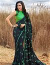 image of Navy Blue Fancy Georgette Daily Wear Printed Saree